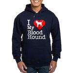 I Love My Bloodhound Hoodie (dark)