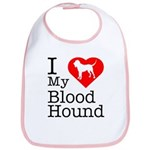 I Love My Bloodhound Bib