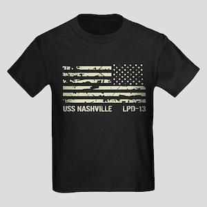 USS Nashville Kids Dark T-Shirt