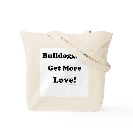 Bulldoggers Get More Love Blk/Tote Bag