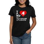 I Love My Boxer Women's Dark T-Shirt