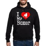 I Love My Boxer Hoodie (dark)