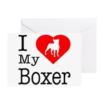 I Love My Boxer Greeting Card