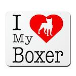 I Love My Boxer Mousepad