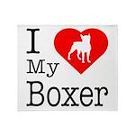 I Love My Boxer Throw Blanket