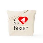 I Love My Boxer Tote Bag