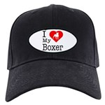 I Love My Boxer Black Cap