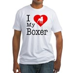 I Love My Boxer Fitted T-Shirt