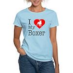 I Love My Boxer Women's Light T-Shirt