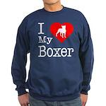 I Love My Boxer Sweatshirt (dark)