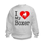 I Love My Boxer Kids Sweatshirt
