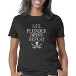 Sail Plunder Drink Repeat Women's Classic T-Shirt