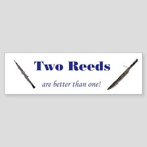 Double Reed Bumper Sticker