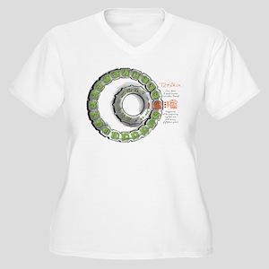 Maya Calendar Women's Plus Size V-Neck T-Shirt