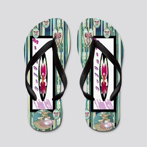 What you will find is women's Orchid Flip Flops
