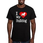 I Love My Bulldog Men's Fitted T-Shirt (dark)