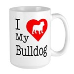 I Love My Bulldog Large Mug