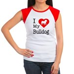 I Love My Bulldog Women's Cap Sleeve T-Shirt