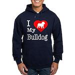 I Love My Bulldog Hoodie (dark)