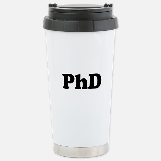 PhD Stainless Steel Travel Mug