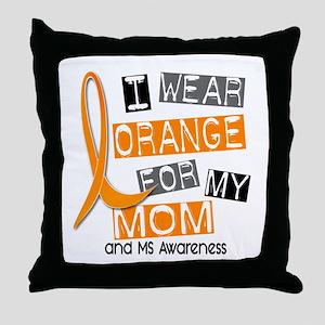 I Wear Orange 37 MS Throw Pillow