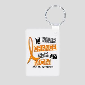I Wear Orange 37 MS Aluminum Photo Keychain