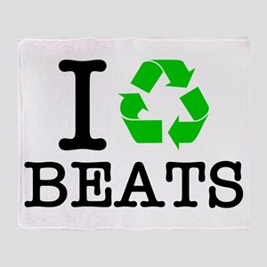 I Recycle Beats Throw Blanket
