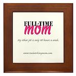 Full-Time Mom Framed Tile