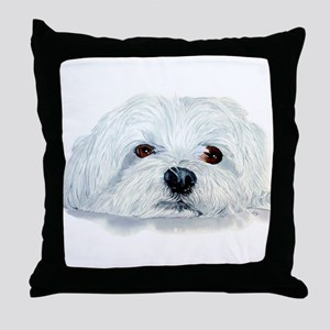 Bogart the Maltese Throw Pillow