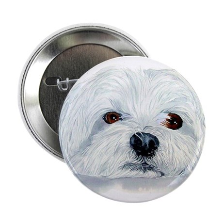 "Bogart the Maltese 2.25"" Button (100 pack)"