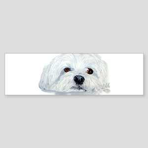 Bogart the Maltese Sticker (Bumper)