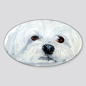 Bogart the Maltese Sticker (Oval)