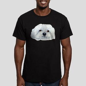 Bogart the Maltese Men's Fitted T-Shirt (dark)
