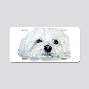 Bogart the Maltese Aluminum License Plate