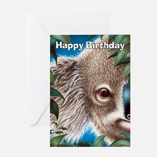 Curios Koala Greeting Card