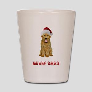 Goldendoodle Christmas Shot Glass