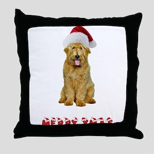 Goldendoodle Christmas Throw Pillow