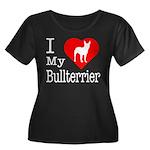 I Love My Bullterrier Women's Plus Size Scoop Neck