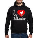 I Love My Bullterrier Hoodie (dark)