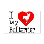 I Love My Bullterrier 22x14 Wall Peel