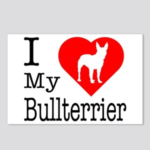 I Love My Bullterrier Postcards (Package of 8)