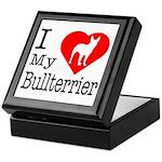 I Love My Bullterrier Keepsake Box
