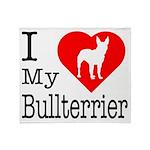 I Love My Bullterrier Throw Blanket