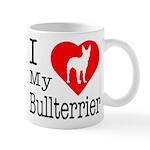 I Love My Bullterrier Mug
