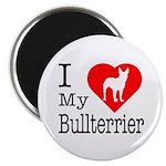 I Love My Bullterrier 2.25