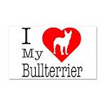 I Love My Bullterrier Car Magnet 20 x 12