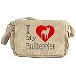 I Love My Bullterrier Messenger Bag