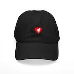 I Love My Bullterrier Black Cap