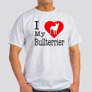 I Love My Bullterrier Light T-Shirt