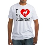 I Love My Bullterrier Fitted T-Shirt